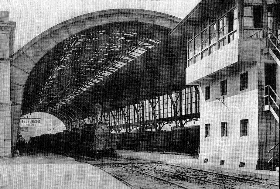 Gare de Portbou au temps de la vapeur